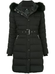 Loveless Belted Padded Parka Black
