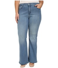Nydj Plus Size Farrah Flared Jeans In Monaco Monaco Women's Jeans Clear