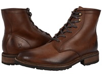 Frye James Lug Lace Up Dark Brown Smooth Full Grain Men's Lace Up Boots