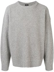 Tom Wood Ribbed Knit Sweater Grey