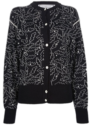 Gianni Versace Vintage Patterned Cardigan Black