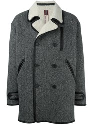 Antonio Marras Oversize Double Breasted Coat Grey