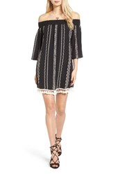 Trixxi Women's Embroidered Off The Shoulder Dress