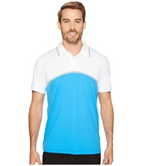 Puma Tailored Color Block Polo French Blue Men's Short Sleeve Knit