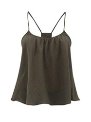 Loup Charmant Scoop Neck Cotton Cami Top Grey