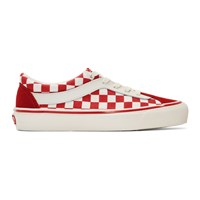 Vans Red And White Checkerboard Bold Ni Sneakers