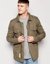 Bellfield Military Four Pocket Lined Jacket Green