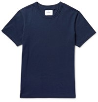 Reigning Champ Chap Ring Spun Cotton Jersey T Shirt Idnight Blue Midnight Blue