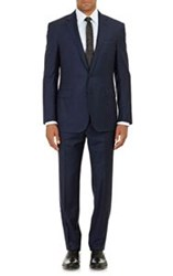 Ralph Lauren Black Label Houndstooth Anthony Two Button Suit Blue Size