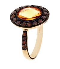 Annoushka Dusty Diamonds Citrine Ring Female