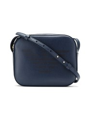 Emporio Armani Logo Print Shoulder Bag Blue