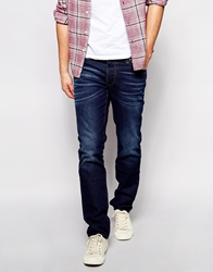 Boss Orange Jeans In Slim Fit Mid Blue Denim