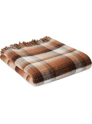 Gucci Kids Gg And Check Throw Blanket Brown