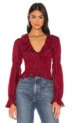 Privacy Please Bardot Top In Burgundy.