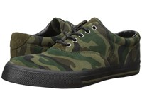 Polo Ralph Lauren Vaughn Olive Camo Men's Lace Up Casual Shoes Green