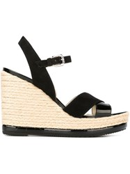 Hogan Wedge Sandals Black