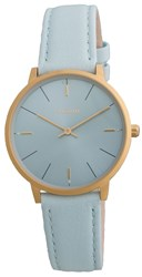 Pilgrim Minimalistic Gold Plated And Blue Watch Blue