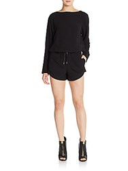 Helmut Lang Drawstring Short Jumpsuit Black