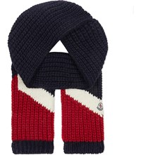Moncler Chunky Knit Scarf Red White Blue