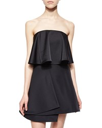 Cameo Headlines Strapless Flounced Bustier Black