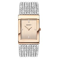 Sekonda Women's Seksy Swarovski Crystal Bracelet Strap Watch White Rose Gold 2376.37