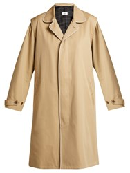Chimala Single Breasted Cotton Twill Trench Coat Camel