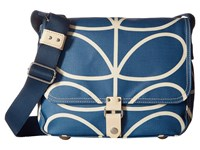 Orla Kiely Giant Linear Stem Small Satchel Marine Satchel Handbags Blue