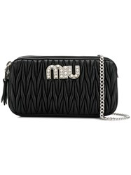 Miu Miu Quilted Mini Bag Black