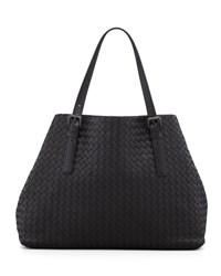 Bottega Veneta Large Double Strap A Shape Tote Bag Black