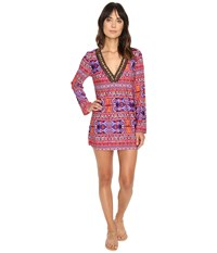 Lablanca Global Perspective V Neck Tunic Cover Up Watermelon Women's Swimwear Pink