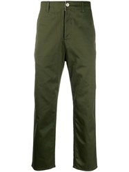 Haikure Straight Leg Trousers Green