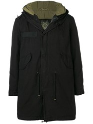 Mr And Mrs Italy Customisable Midi Parka With Patches Black