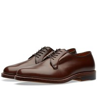 Alden Plain Toe Blucher Brown