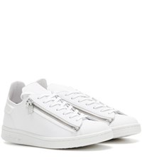 Y 3 Stan Zip Leather Sneakers White
