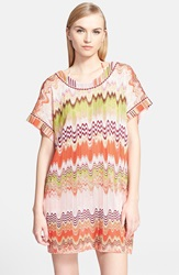 Missoni Mare Two Way Wave Stitch Cover Up Dress Red Multi