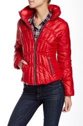 Guess Channel Down Jacket Red