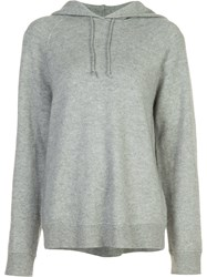 Alexander Wang T By Hooded Sweatshirt Grey