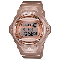 Casio Women's Baby G Resin Strap Watch Rose Gold