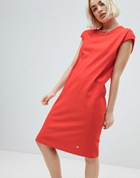 Champion Sleeveless Dress With Small Logo Detail Red