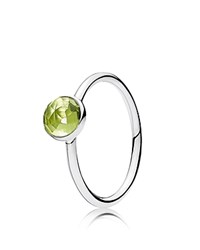Pandora Design Ring Sterling Silver And Glass August Birthstone Droplet