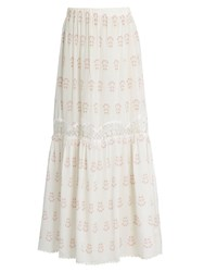 Athena Procopiou Summer Morning Silk Skirt White Multi