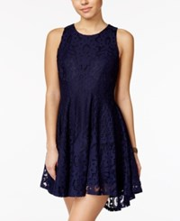 American Rag Lace High Low Fit And Flare Dress Only At Macy's Navy