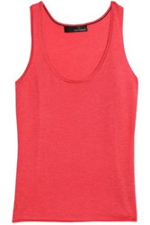 Amanda Wakeley Cashmere Tank Coral