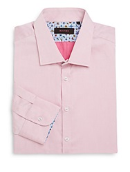 Sand Cotton Dress Shirt Pink