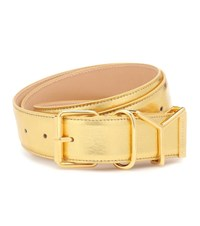 Y Project Metallic Leather Belt Gold
