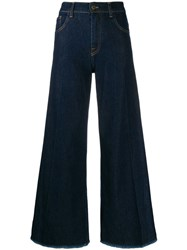L'autre Chose Wide Leg Jeans Blue