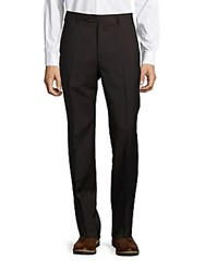 Zanella Todd Monochromatic Wool Dress Pants Black