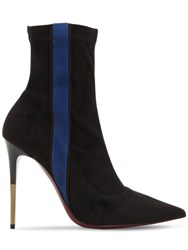 Ernesto Esposito 105Mm Stretch Faux Suede Ankle Boots Black Blue