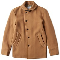 Edifice Shawl Collar Coat Brown