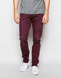 Pepe Jeans Grove Slim Fit Washed Merlot Garment Dye Denim